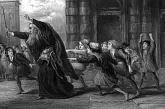 The Merchant of Venice - Gilbert's Shylock After the Trial, an illustration to The Merchant of Venice.