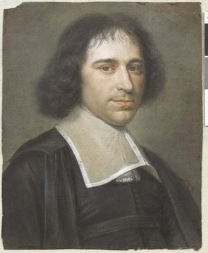 Gilles Ménage - Portrait, by Bernard Vaillant, thought to be of Ménage