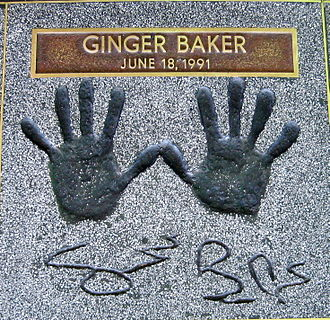 Ginger Baker - Ginger Baker's Handprints at the Hollywood Rock Walk of Fame