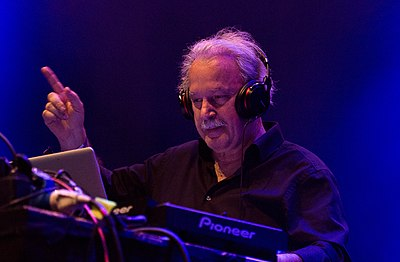"Giorgio Moroder, pioneer of Italo disco and electronic dance music, is known as the ""Father of Disco."" Giorgio Moroder Melt! 2015 02 (cropped).jpg"