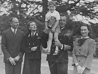 Prince William of Gloucester - William in Canberra as a young boy, with his parents (far left and far right) and Lord and Lady Louis Mountbatten.