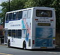 Go North East 3891 Dennis Trident Plaxton President NK51 UCU DFDS ferry bus livery in Newcastle 9 May 2009 pic 1.jpg