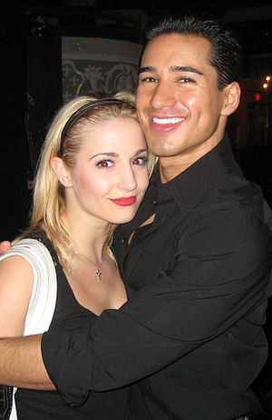 Jessica Lee Goldyn - Jessica Lee Goldyn with her co-star from A Chorus Line Mario Lopez on August 14, 2008