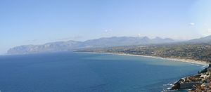 Gulf of Castellammare - Overview of gulf of Castellammare