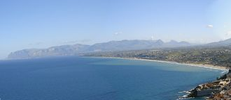 Gulf of Castellammare - Overview of gulf of Castellammare
