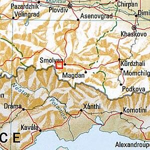 Golyam Perelik - Image: Goljam Perelik Bulgaria 1994 CIA map