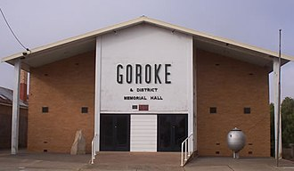 Goroke, Victoria - Image: Goroke Town hall