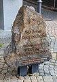Goslar - Marktplatz Gedenkstein 750 Jahre Knappschaft (01-2).jpg