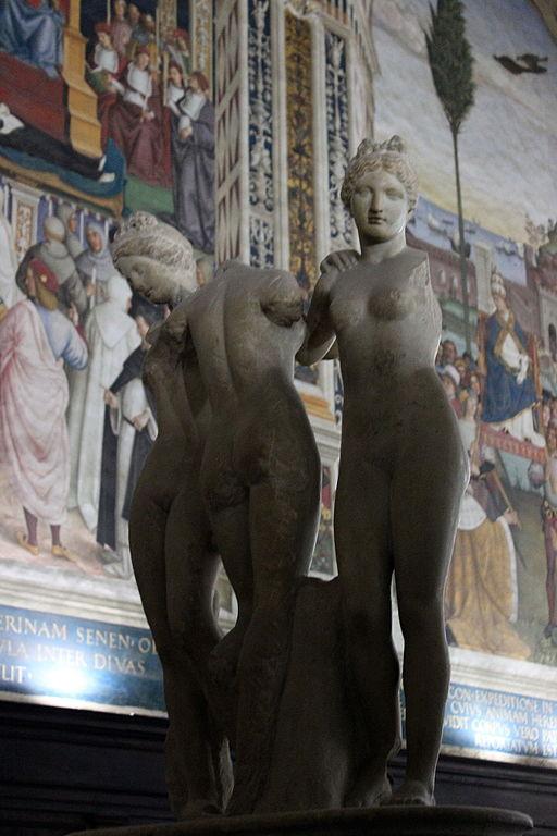 Le tre grazie, Libreria Piccolomini, Siena Duomo