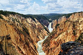 Grand canyon of Yellowstone and Yellowstone fall.jpg
