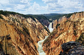 Grand Canyon of the Yellowstone - Grand Canyon of the Yellowstone and Lower Falls