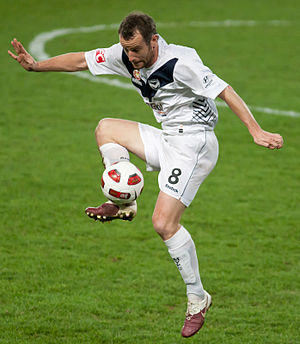 Grant Brebner - Brebner playing for Melbourne Victory
