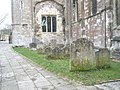 Gravestones adjacent to Romsey Abbey - geograph.org.uk - 1170159.jpg