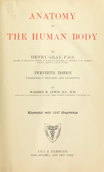 Henry Gray: Gray's Anatomy (20th edition)