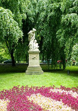 Pomnik bohaterskiej Grażyny. Kraków - Planty
