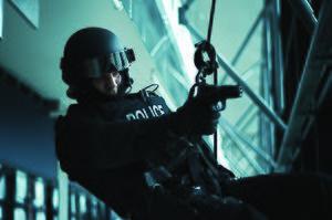 Emergency Response Team (RCMP) - An ERT officer in training.