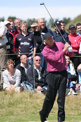 Greg Norman - Norman tees off at Royal Birkdale