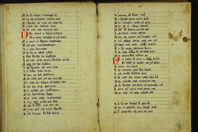 Eine Handschrift des Gregorius aus dem 2. Viertel des 14. Jahrhunderts.