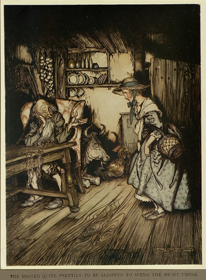 The Hut in the Forest - Arthur Rackham, 1917