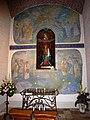 Groesbeek (NL) De Horst, Goddelijk Hart van Jezuskerk muurschildering Mariakapel.JPG