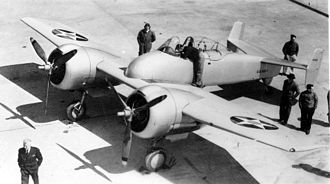 Grumman XF5F Skyrocket - Grumman XF5F-1 Skyrocket c. 1940