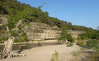 Felswand im Guadalupe River State Park