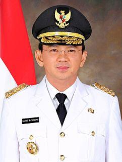 Basuki Tjahaja Purnama Indonesian politician