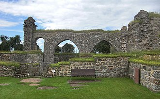 Gudhem Abbey - Ruins of the monastery.