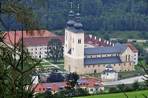 Gurk Domstift mit Befestigungsanlagen S-Ansicht (Kandidat für das UNESCO-Welterbe in Kärnten)