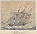 H.M.S. Barham entering the Harbour of Milo 26 Febry 1832 RMG PY0780.jpg