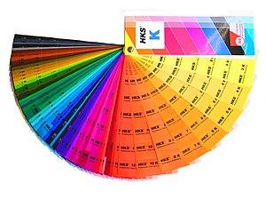HKS (colour system) - HKS colour fan.