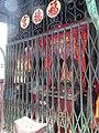 HK Sheung Wan 太平山街 Tai Ping Shan Street 水巷 Water Lane 福德宮 Fude Temple steel iron gate name sign Aug 2016 DSC.jpg