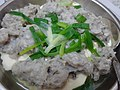 HK food steamed Minced mud carp 鯪魚 Dace fish meat 肉魚 Bean Curd Tufo product 豆腐製品 Chinese spring onion Jan-2016 dinner (3).JPG