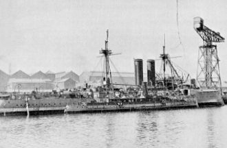 Origins of the Royal Canadian Navy - Figure 2: CGS Canada. Built by Vickers Sons and Maxim at Barrow-in-Furness in 1904, was 200 feet in length and could steam at 22 knots.
