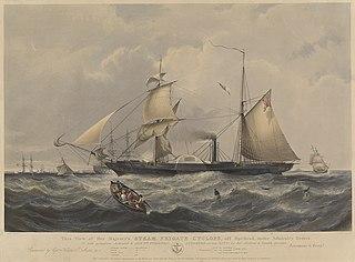 HMS Cyclops (1839) British paddle wheel naval steam frigate 1839-1864