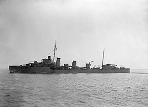 Convoy SC 130 - HMS Duncan in March 1943