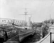 HMS Fantome in drydock LAC 3332914