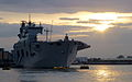 HMS Ocean Moored in London for Olympic Games MOD 45154255.jpg
