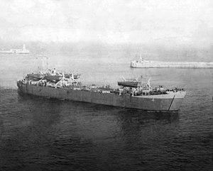 USS LST-4 - Image: HM LST 4 Malta Harbor 1944