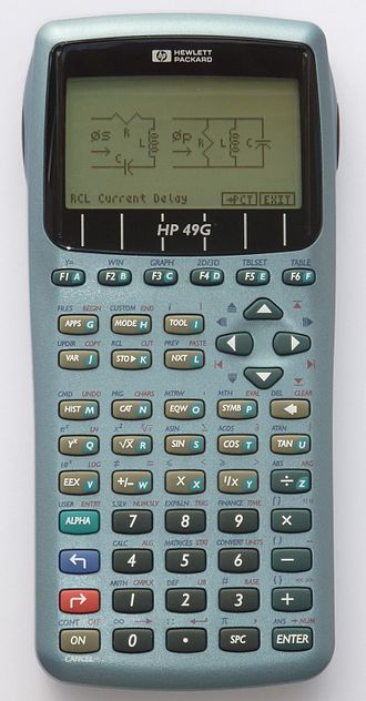 Comparison of HP graphing calculators - Image: HP49G