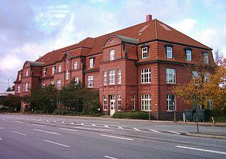 Kleiner Grasbrook - Building of the Hamburg port authority.