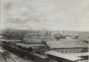 Port of Odessa - Port of Odessa in 1917.