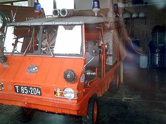 Haflinger (vehicle) - Haflinger used as a fire vehicle. 2007 in Ellmau, Austria