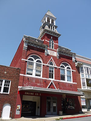 Hagerstown Historic District - Former fire hall in the district in 2011