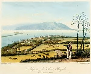 Jamaica Station (Royal Navy) - Ships at Port Royal c. 1820