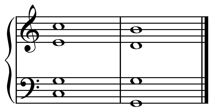 Half cadence in C