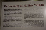 Halifax W1048 information board at RAF Museum London Flickr 2224420759.jpg