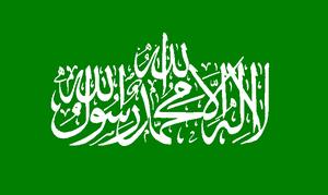 Bandera utilizada por Hamás
