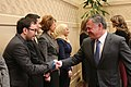 Hamza Arsbi meeting King Abdullah II of Jordan.jpg