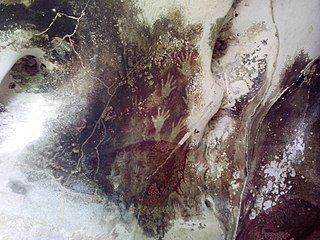 Caves in the Maros-Pangkep karst Cave and archaeological site in Indonesia